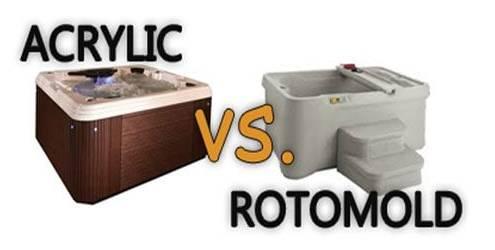 roto molded vs acrylic hot tub
